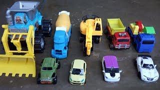 Washing excavator, dum truck, mixer concrete, bulldozer, construction vehicle