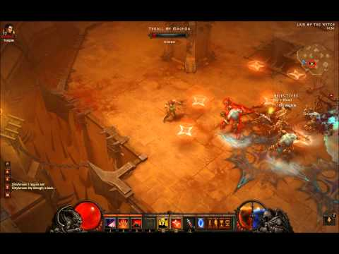 Diablo III - Act 2: How to kill Maghda, The Covern Boss (with a demon hunter)