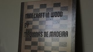 Wood Minecraft cutting board - Video of X-Carve first run