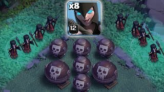 LOOK OUT!! ITS A TRAP!!| Clash of clans | TROLL WITCH TRAP!!