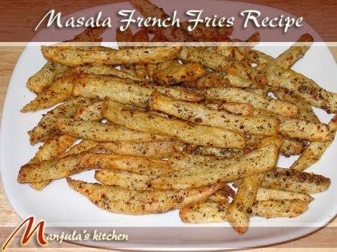 Masala French Fries Recipe by Manjula, Indian vegetarian gourmet