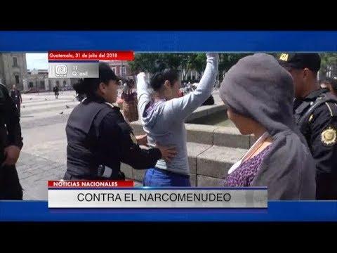 Operativos en contra de vendedores de drogas se realiza en la Plaza de la Constitución   31Jul