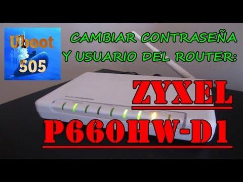 Contraseña y Usuario del Router ZyXEL p660hw-d1   100%