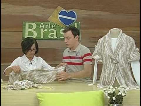 ARTE BRASIL -- CLAUDIA MARIA -- CASAQUETO TARANTELA EM TRICÔ (29/09/2010 - Parte 1 de 2)