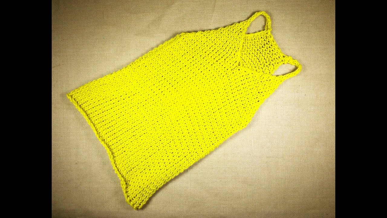 Knitting Pattern Baby Tank Top : How to Loom Knit a Tank Top (DIY Tutorial) - YouTube