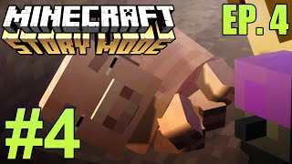 """Minecraft: Story Mode: Episode 4 """"A Block And A Hard Place"""" Part 4 - The Saddest Death :("""
