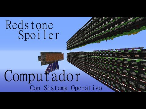 Minecraft Redstone Spoiler - Computador con Sistema Operativo