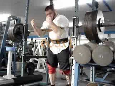 Craig Smith 605lb Zercher Squat Video