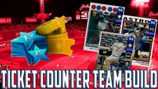 TICKET COUNTER TEAM BUILD!!  MLB The Show 17 Diamond Dynasty