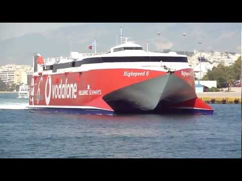 Highspeed 6 and Flying Dolphin 17 at Piraeus