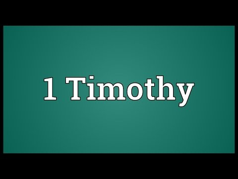 Header of 1 Timothy