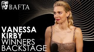 Vanessa Kirby on Winning Supporting Actress for The Crown   BAFTA TV Awards 2018