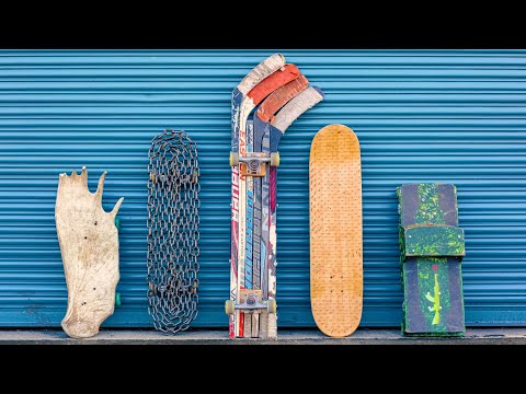 15 WEIRDEST SKATEBOARDS vs THE VERT RAMP! Ft. Andy Macdonald
