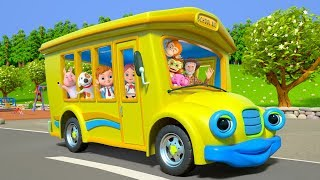 Wheels On The Bus | Kindergarten Nursery Rhymes for Kids | Cartoons for Children | Little Treehouse