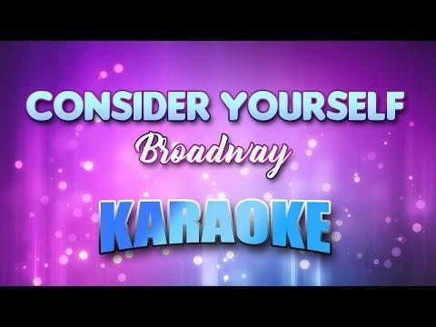 Consider Yourself - Broadway (Karaoke version with Lyrics)