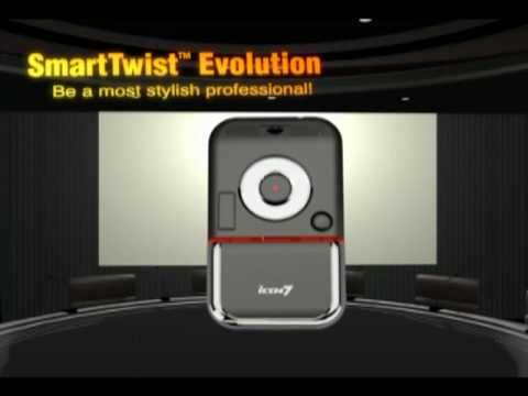 Icon7 Twister™ Evolution Presenter Laser Pocket Mouse Video