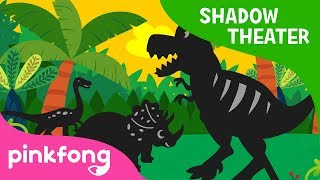 The Best Hunter, T-Rex | Shadow Theater | Dinosaur Story | Pinkfong! Songs for Children