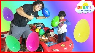 EASTER EGGS Surprise Toys Challenge Disney Cars Toys Paw Patrol Batman Superman Thomas and Friends