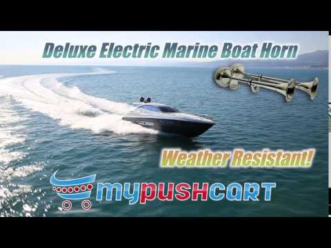 Deluxe Electric Marine Boat Horn - Stainless Steel Weather Resistant