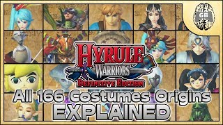 All 166 Costumes Origins EXPLAINED - Hyrule Warriors Definitive Edition (Switch)