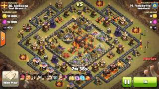 Watch and Learn! TH 10 3 stars clash of clans   (Vendetta)