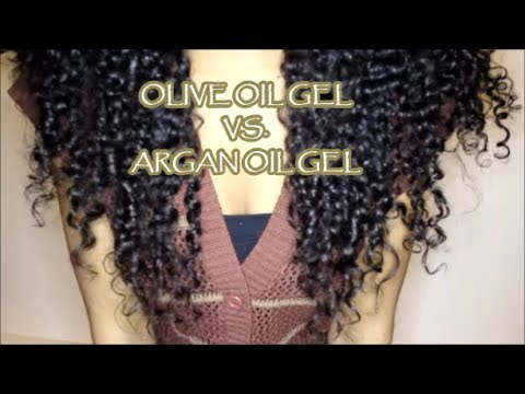 eco styler olive oil vs argan oil gels on thick curly