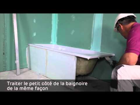Habillage d 39 une baignoire en carreaux de platre pf3 youtube - Habillage d une baignoire ...
