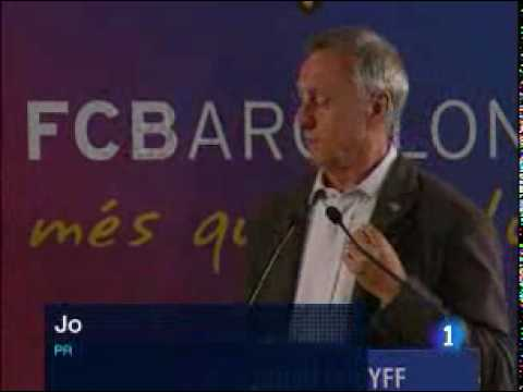 FC Barcelona - Johan Cruyff  Presented As Barcelona's Honorary President