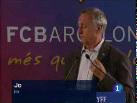 FC Barcelona - Johan Cruyff  Presented As Barcelona's Honorary President