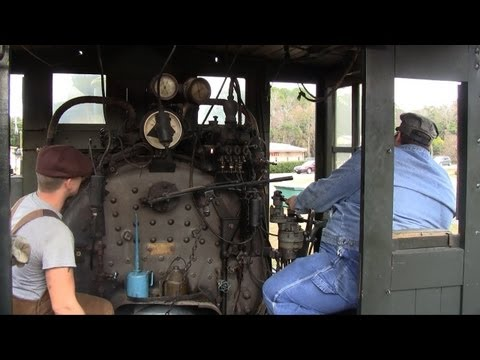 CAB RIDE! On the Orange Blossom Cannonball - Tavares Eustis & Gulf 2-6-0 #2