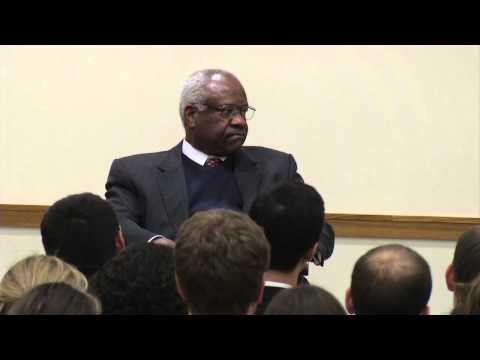 Justice Clarence Thomas visits HLS