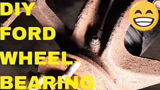 Remove Front Wheel Bearing On A Ford Focus