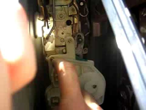 replace honda civic  door lock actuator youtube