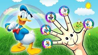 Donald Duck Finger Family Nursery Rhymes Lyrics - Finger Family ABC