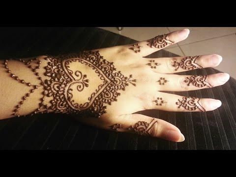 Simple Heart Henna - Easy Hearts Shaped Mehendi Design