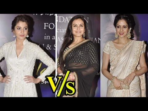 Anushka Sharma V s  Rani Mukherjee & Sridevi video
