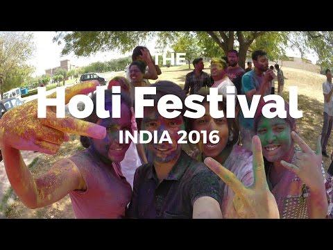 Holi Festival India 2016 - Sanskrit - होली