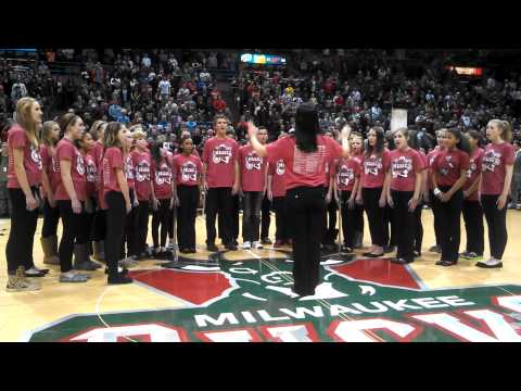 Pilgrim Park Middle School - National Anthem - Bucks Game 1/4/13