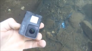 RIVER TREASURE! GoPro Hero 5, iPhone & iPod Nano! Metal Detecting Underwater GOLD & Cliff Jumping!