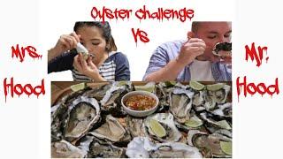 Vlog 138  Thử Thách Chồng Mỹ Ăn Mâm Hàu Hoàng Đế Sống Tái Chanh 24 Con.Oyster Challenge Mukbang.