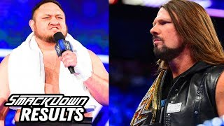 Samoa Joe Challenges AJ Styles! WWE Smackdown Review & Results Going In Raw Podcast
