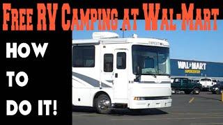 The ABCs of RV camping at Wal-Mart