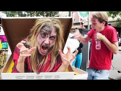 Zombie Pizza Prank video