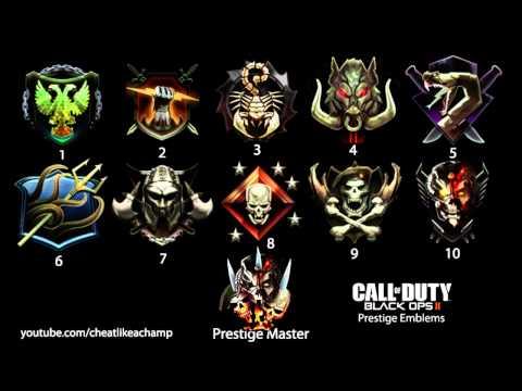 Prestige Emblems Black Ops 1 Black Ops 2 Prestige Emblems