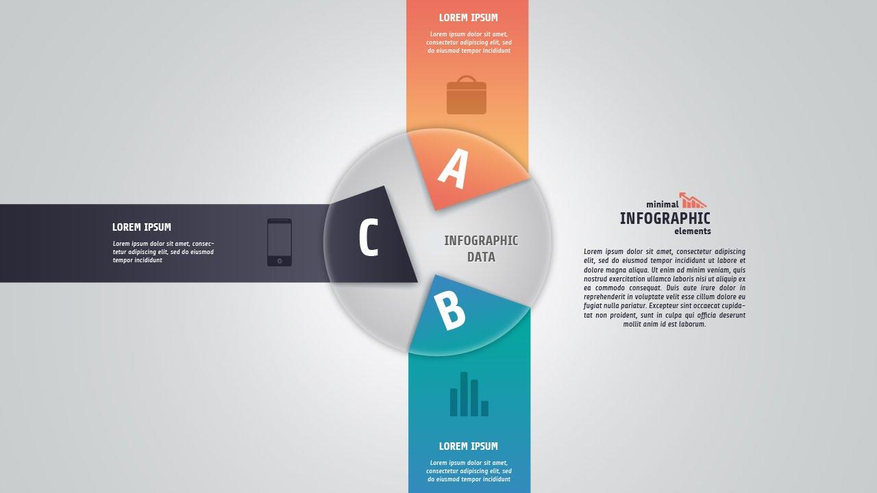 Infographic design photoshop
