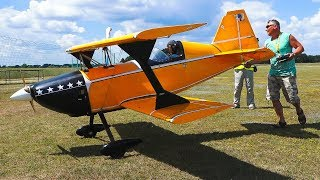 GIANT RC MODEL AIRPLANE PITS CHALLENGER IN LARGE SCALE IN FLIGHT DEMO!!