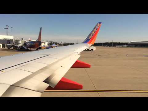 Southwest Airlines Boeing 737-700 Takeoff From Nashville International Airport