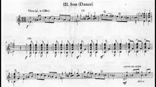 Ernesto García de León: Las Campanas (The Bells), Sonata No.1 for Guitar (Score video)