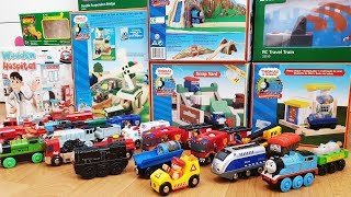 Thomas and Friends Brio Trains Fire Truck Police Cars Unboxing Railway Toys Kids Playing Train Crash