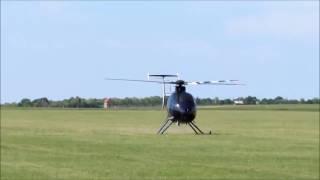 Procvičování autorotace vrtulníků. Přistání s vypnutým motorem